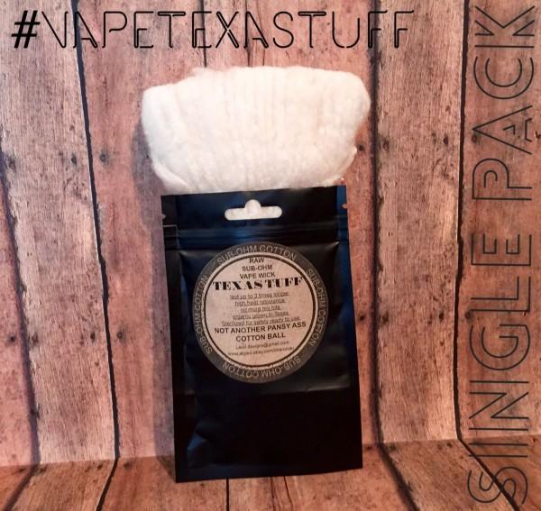 Texas Tuff Cotton - Sub Ohm Vape Wick