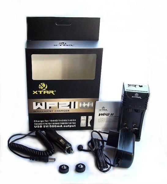 Xtar WP2 II Akku-Ladegerät für Li-Ion incl. KFZ Adapter