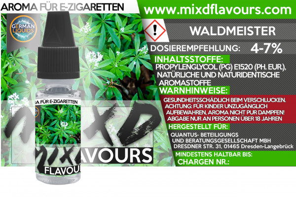 MIXD Flavours Aroma 10ml Waldmeister