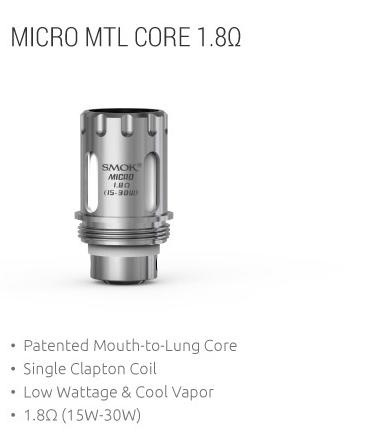 Smok TFV4 Micro Ersatzcoils MTL (5er Pack)