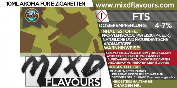 FTS - MIXD Flavours Aroma 10ml