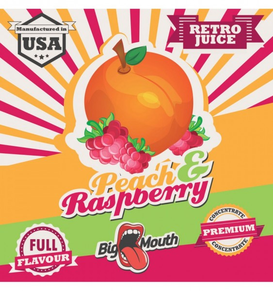 Big Mouth Aroma Retro Juice Peach Rasperry 10ml