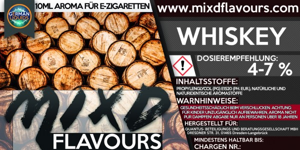 MIXD Flavours Aroma 10ml Whiskey