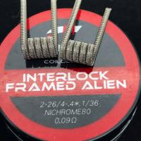Coilology Interlock Framed Staple Alien Coil (2Stück Handgefertigt)