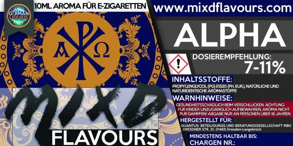 MIXD Flavours Aroma 10ml Alpha