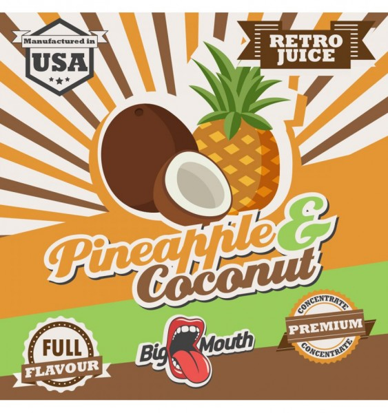 Big Mouth Aroma Retro Juice Pineapple Coconuts 10ml