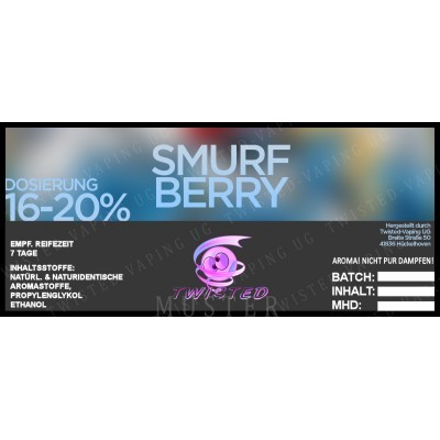 Twisted Flavors-Aroma (10 ml) Smurfberry