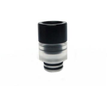 Doppel Drip Tip POM Acryl schwarz transparent