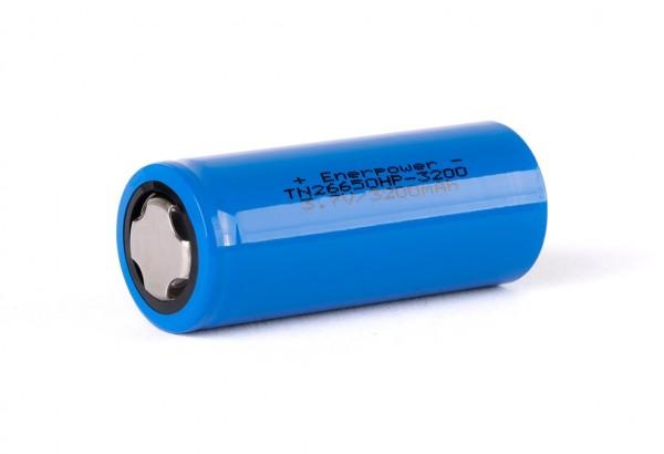 Enerpower TN 26650HP - 3200mAh (3230mAh), 3,6V -3,7V, Li-Ion Akku