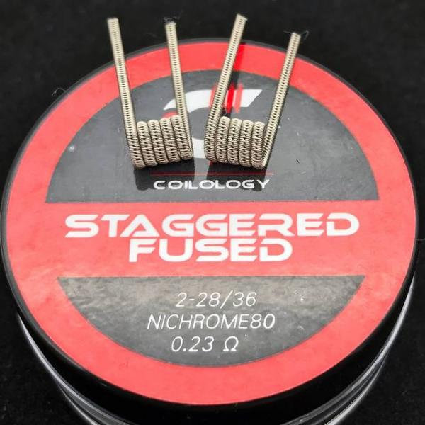Coilology Staggered Fused Clapton Coil (2Stück Handgefertigt)