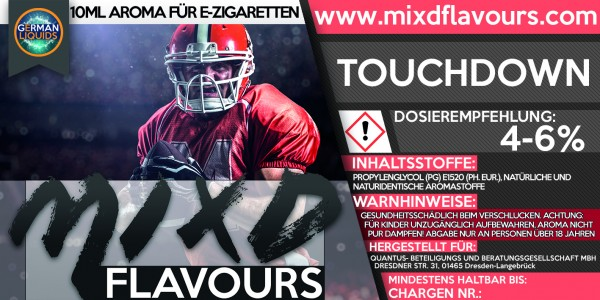 MIXD Flavours Aroma 10ml Touchdown