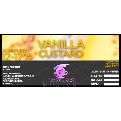 Twisted Flavors-Aroma (10 ml) Vanilla Custard