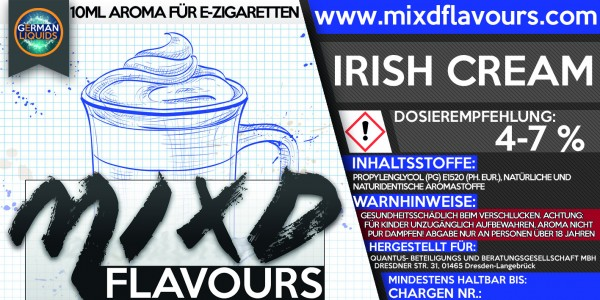 MIXD Flavours Aroma 10ml Irish Cream