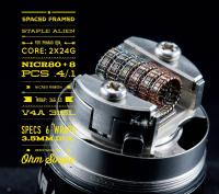 Spaced Framed Staple Alien für Pharaoh RDA (2 Stück) by Tasty Ohm Coils