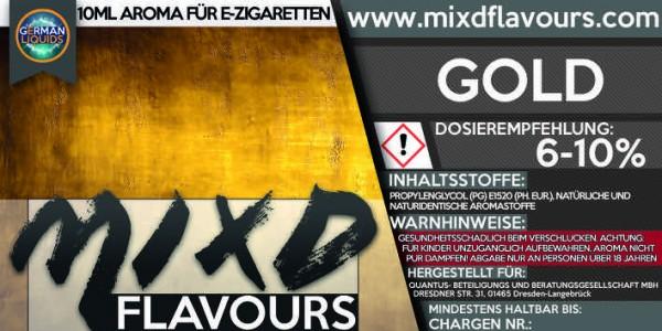 MIXD Flavours Aroma 10ml Tabak Typ Gold
