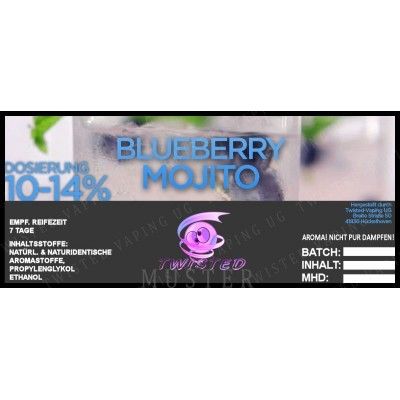 Twisted Flavors-Aroma (10 ml) Blueberry Mojito