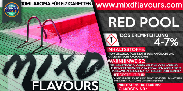 MIXD Flavours Aroma 10ml Red Pool