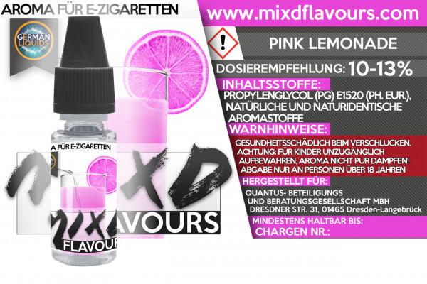 MIXD Flavours Aroma 10ml Pink Lemonade