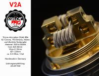 Coil Cat Pro Manta RTA V2A 3-Core MicroAlien Dualset (2 Stück) Handmade in Germany