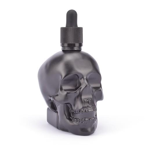 Totenkopf Glasflasche mit Pipette 120ml