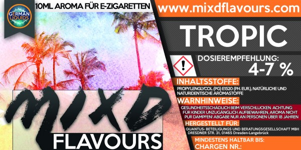 MIXD Flavours Aroma 10ml Tropic