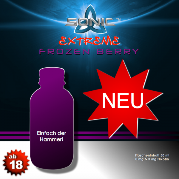 Sonic Extreme Liquid 50ml Frozen Berry