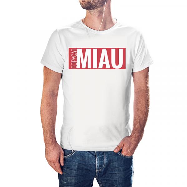Copy Cat - MIAU Premium T-Shirt Weiß