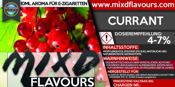 MIXD Flavours Aroma 10ml Currant