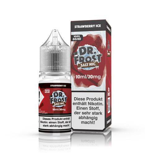 Strawberry Ice - Dr. Frost Salt Nic 20mg 10ml Liquid