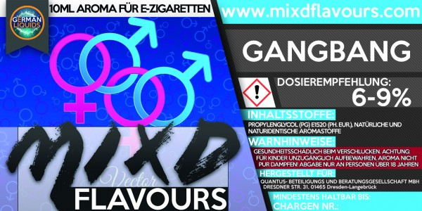 MIXD Flavours Aroma 10ml Gangbang