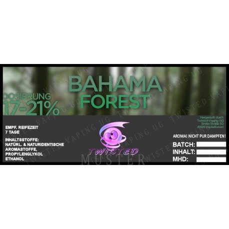 Twisted Flavors-Aroma (10 ml) Bahama Forest