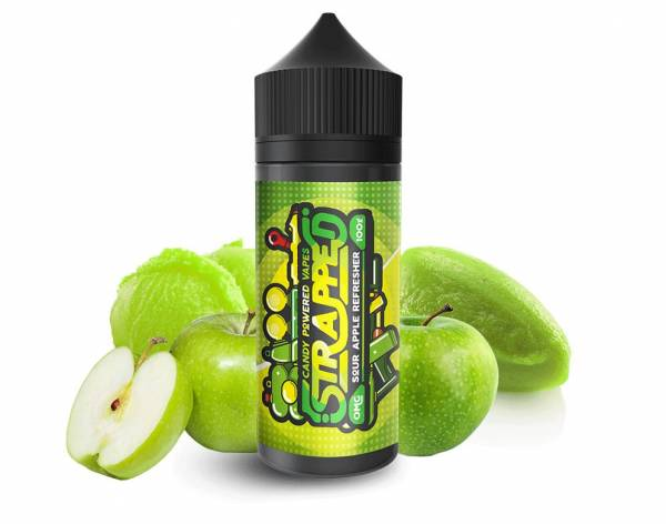 Sour Apple Refresher - Strapped E-Liquid 100ml 0mg
