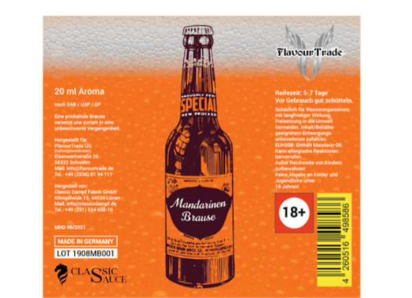 Mandarinen Brause - Flavour Trade Aroma 20ml