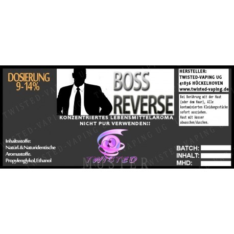Twisted Flavors-Aroma (10 ml) Boss Reverse