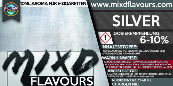 MIXD Flavours Aroma 10ml Tabak Typ Silver