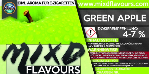 MIXD Flavours Aroma 10ml Green Apple