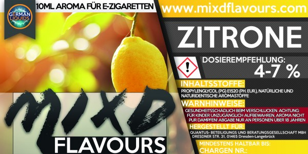 Zitrone - MIXD Flavours Aroma 10ml