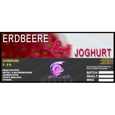 Twisted Flavors-Aroma (10 ml) Erdbeer Joghurt