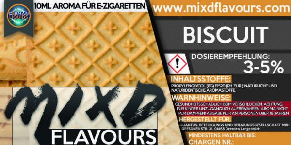 MIXD Flavours Aroma 10ml Biscuit