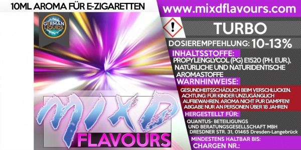 Turbo - MIXD Flavours Aroma 10ml