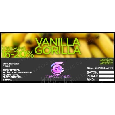 Twisted Flavors-Aroma (10 ml) Vanilla Gorilla