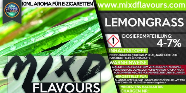 MIXD Flavours Aroma 10ml Lemongrass