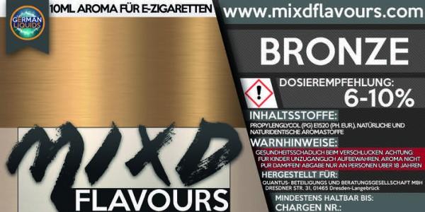 MIXD Flavours Aroma 10ml Tabak Typ Bronze