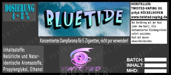 Twisted Flavors-Aroma (10 ml) Bluetide