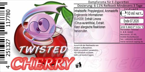 Cherry - Twisted Flavors Aroma 10ml