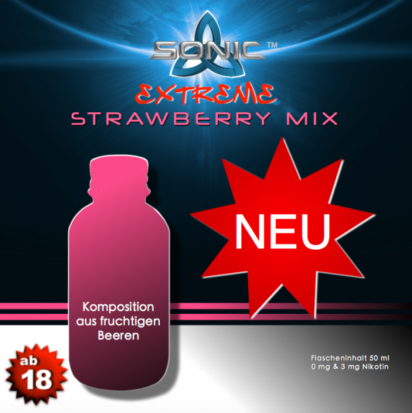 Sonic Extreme Liquid 50ml Strawberry Mix