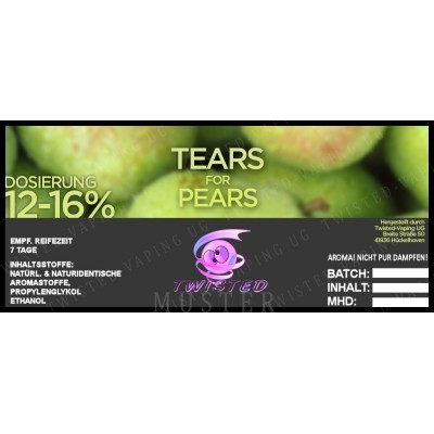 Twisted Flavors-Aroma (10 ml) Tears for Pears