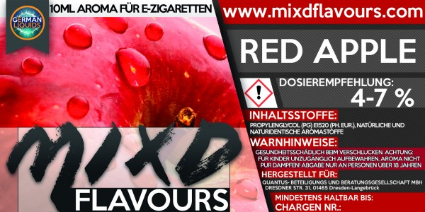 MIXD Flavours Aroma 10ml Red Apple