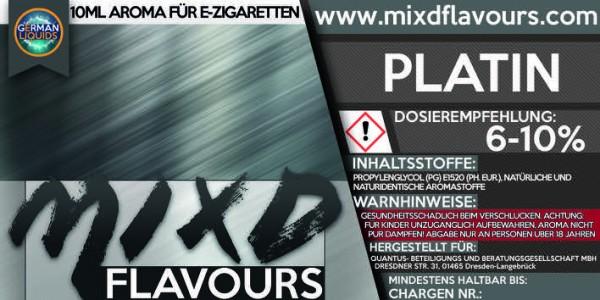 MIXD Flavours Aroma 10ml Tabak Typ Platin