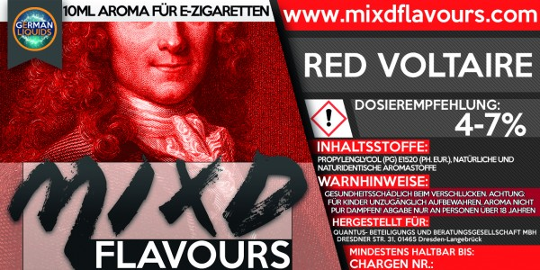 MIXD Flavours Aroma 10ml Red Voltaire